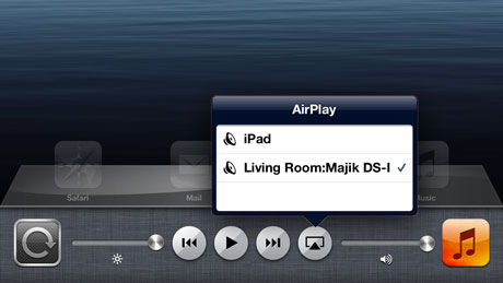Select your Linn system from the airplay button