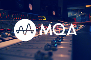 Recording studio and MQA logo