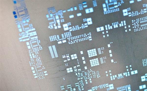 Printed circuit board manufacturing screen.