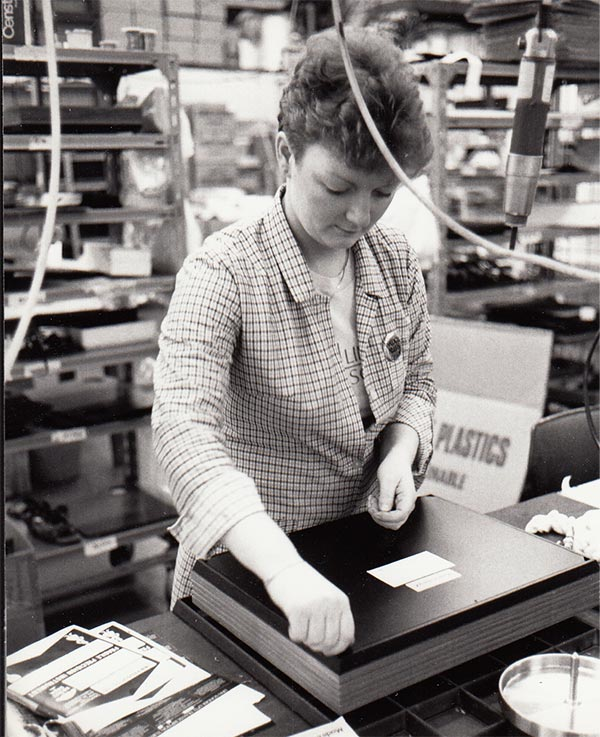 Archive image of an LP12 build process in the factory
