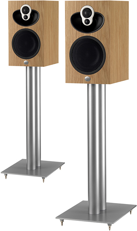 Speakers on Majik Speaker Stands
