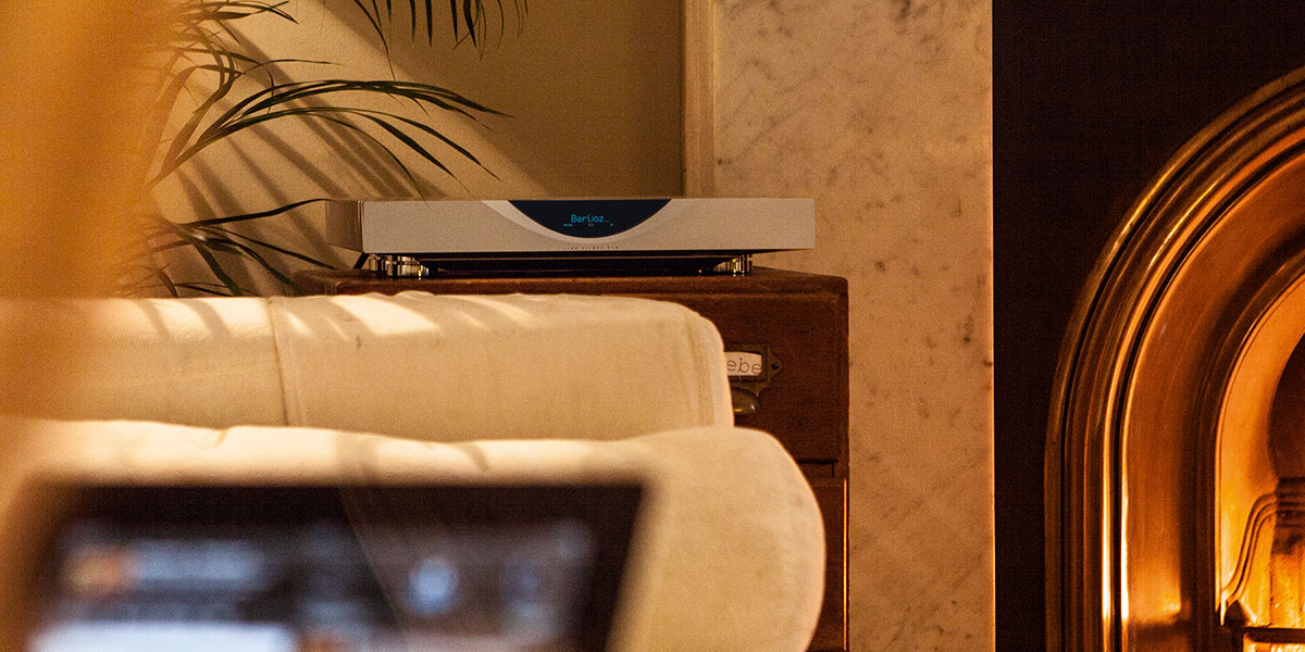 Linn Klimax DSM network music player being controlled by an iPad