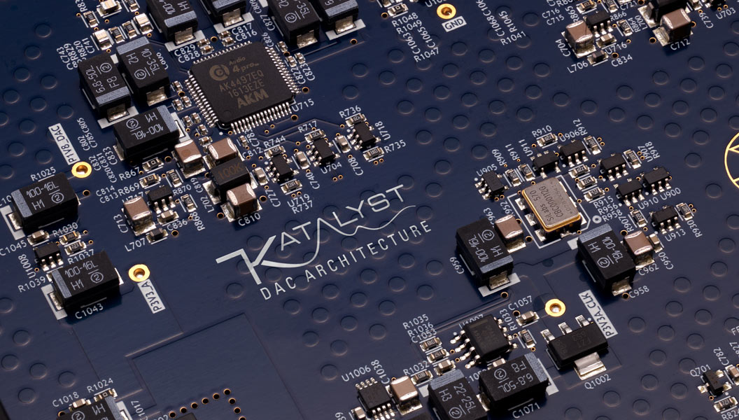 Close-up of Katalyst DAC Architecture circuitry