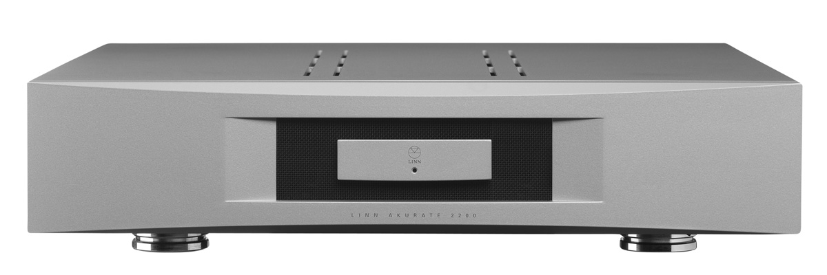 Linn Akurate 2200 amplifier in silver